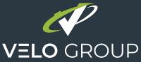 Logo Velo Group background dark blue